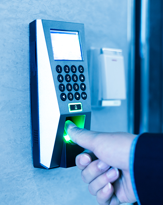 Access Control Biometric Reader person using thumbprint scanner